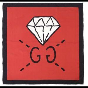 Gucci GG Diamond Silk Scarf